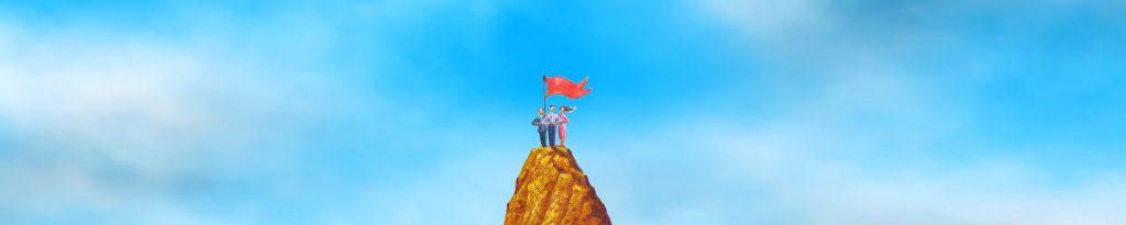 Teamontwikkeling brengt het managementteam dichter bij de top van de berg