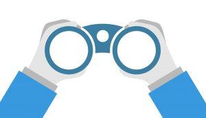 Een verrekijker als metafoor voor visie