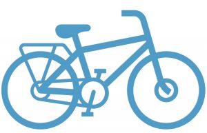 Een coach op de fiets