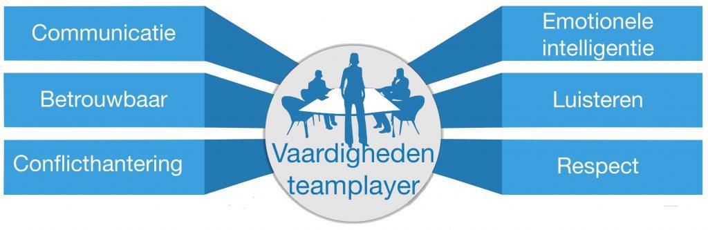 Teamplayer vaardigheden