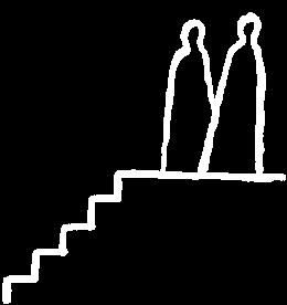 De coach begeleidt de executive naar de bovenste trede van de trap